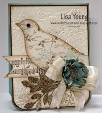 2/19/2012; Lisa Young at 'Add Ink and Stamp' blog; Elegant Bird Bigz die + other products