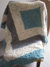 holycrapyarnandstuff: Square Upon Square crocheted throw. Pattern HERE.