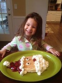 Santa Pancake. Maybe with yogurt instead of all that whipped cream?