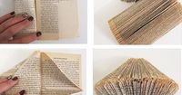 Variety of way to fold to create cool book art! I love directions!