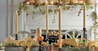 Say good-bye to the stiff floral arrangements with these ideas for this year's Thanksgiving table setting.
