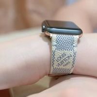 Apple Watch Band Classic LV Monogram Damier Azur White $125.00