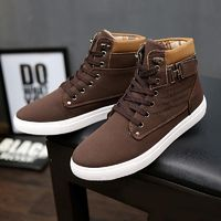 Hot Sale Spring Winter Men Ankle Boots Fashion Men Shoes Casual Shoes British Style Male High Top Mens Shoes £38.70