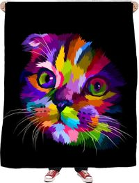 Trusting Cat Fleece Blanket $65.00