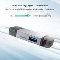 Type-C USB3.0 Micro USB Multifunctional 6 in 1 Multi-Card Reader TF Card OTG Reader with HUB for Tablet Smartphone
