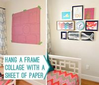 How To Hang A Frame Collage With A Sheet Of Paper   Young House Love