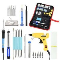 220V 60W Adjustable Temperature Soldering Iron Welding Tools Kit Screwdriver Glue Gun Repair Knife