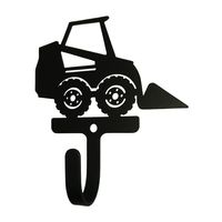 Wrought Iron Skid Steer Decorative Wall Hook Small https://wroughtironhaven.com