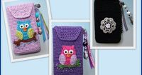 crochet pouch/cozy>little owl bags