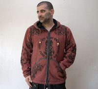 Knitted Mens Cotton jacket with fleece lining - very warm (M size) $85.00