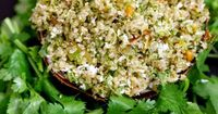 Sreelus Tasty Travels: Coriander, Coconut Masala Quinoa - Oh No, Not Your Traditional Coconut Rice
