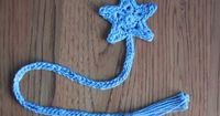 Star bookmark free pattern, so sweet. Could be star xmas tree ornaments too.... thanks for share xox