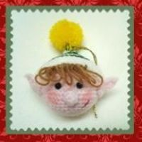 Crocheted Elf Tree Ornament Pattern by C - via