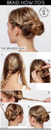 Braid on the sides/Braided bun- a fun hair style for a special event, party or holiday!