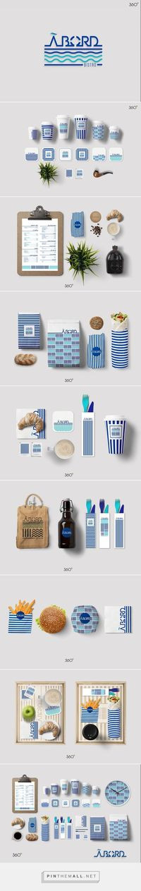 Art direction, graphic design for ABORD on Behance by Fatma Zahra'a 360° Sfax ص�ا�'س, Tunisia curated by Packaging Diva PD. Love this nautical design, branding and packaging.