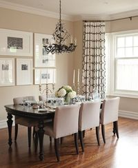 Traditional Neutral Dining Room | photo Mark Burstyn | David Nosella Interior Design | House///// love these curtains