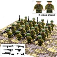 US Soldiers WW2 Minifigures 20-Pack with Weapons $38.90
