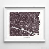 Alexandria, Virginia Street Map Horizontal Print by Inkist Prints - Available at https://www.inkistprints.com