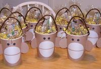 Put a monkey face on a large paper cup for an instant themed party favor.
