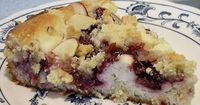 Raspberry Almond Crumb Cake a high protein low carb gluten free treat that is VERY good :) I like to use coconut sugar instead of Splenda. - first pinned So I might have to try this!