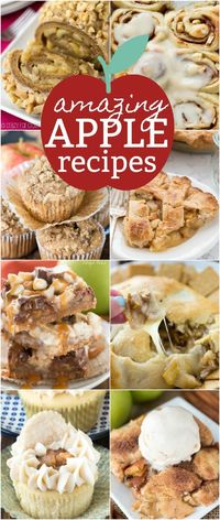 Fall is the perfect season for APPLE RECIPES! Apple is perfect in everything from breakfast to snack to dessert to dinner and this list of amazing apple recipes has something for everyone!