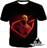 Cool Marvel Space Hero Drax the Destroyer Promo Black T-Shirt GOG060 $19.99
