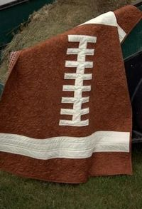 Rookie Quarterback Baby Quilt Pattern. applilque on a towel or throw for James