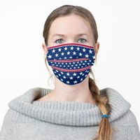 Stars Red White and Blue Cloth Face MasK