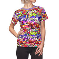 Graffiti HipHop Women's Shirt Moisture Wicking Strong Elastic Fabric Vibrant Durable Colors Best Quality Pigment Inks Sizes XS - 2XL $21.99 https://www.etsy.com/shop/LAFabriKDesigns?ref=ss profile