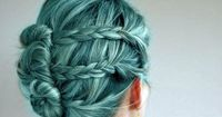 So pretty! Both color and style. but i dont have the guts to dye my hair this color but i do want to try the style
