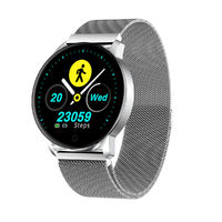 Newwear Q20 HD Edge to Edge Screen Heart Rate Physiological cycle Message Display 30Days Standby Milanese Smart Watch