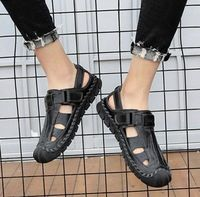 Genuine Leather Leisure Casual Beach Streetwear Mens Sandals Shoes,NEW,on Sale! More Info:https://cheapsalemarket.com/product/genuine-leather-leisure-casual-beach-streetwear-mens-sandals-shoes/