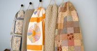 Barb shared this great way to display quilts on there site today. Those girls from Me and My Sisters are so creative!