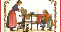 Tasha Tudor illustrations (how she LIVED her life): country kitchen ... look at the 1800s storage details