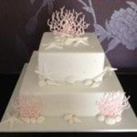 Ocean theme wedding cake square