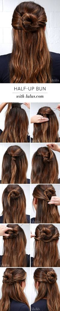 Loving the half-up bun look? Our step-by-step tutorial will show you how to get the look, and with a fun twist! Take a peek at this must-try how-to!