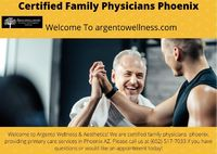 Welcome to Argento Wellness & Aesthetics! We are certified family physicians phoenix, providing primary care services in Phoenix AZ. Please call us at (602)-517-7033 if you have questions or would like an appointment today!