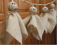 halloween crafts, halloween ghosts and burlap halloween.
