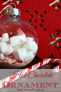 These simple to make Hot Chocolate Ornaments are the perfect addition to any gift! Add one along with a mug and some extra hot chocolate. Or tie one to a gift b