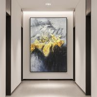 Gold leaf Modern art Abstract painting on canvas art acrylic black texture painting wall pictures cuadros abstractos hand painted home decor $123.75