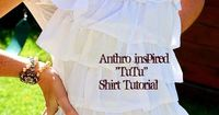 10-Minute Refashion Makeover -- from Tube Top Dress to Ruffles Skirt