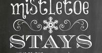 Chalkboard art is hot, hot, hot this year! How cute & fun is this? FREE 8x10 Mistletoe Chalkboard Printable - click through, print and frame for yourself or give as a gift!