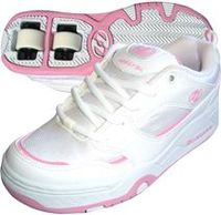 Heelys - Rebel - White/Pink - Childrens Size 13 The 2 x 2 Double Wheeled HeelysWhat are Heelys?Heelys are trainers with a wheel in the http://www.comparestoreprices.co.uk/skating-equipment/heelys--rebel--white-pink--childrens-size-13.asp