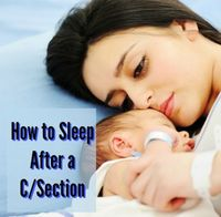 How to Sleep After a C/Section