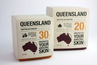 """Student work by Hanne �…rsnes and Solveig Nordal , from Oslo, Norway: """"Queensland Suncare is a fictional Australian product for the Norwegian market. The packagi"""