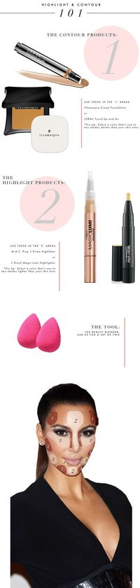 how to highlight and contour your face - makeup step by step guide