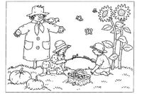 free coloring autumn day | Autumn Coloring Sheets