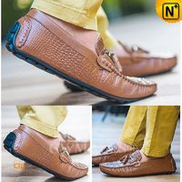CWMALLS® Bern Croc-embossed Leather Loafers CW707135[Leather Shoes Reviews, Global Free Shipping]