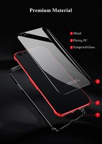 Bakeey Metal Bumper Tempered Glass Back Cover Protective Case For iPhone 6/6s/6 Plus/6s Plus