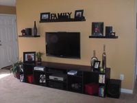 entertainment center ideas | ... entertainment center out of MDF and gave it a faux magohney stain to
